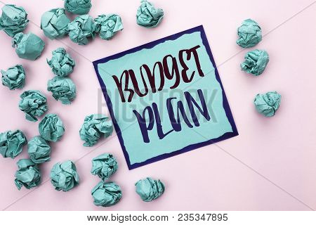 Conceptual Hand Writing Showing Budget Plan. Business Photo Text Accounting Strategy Budgeting Finan