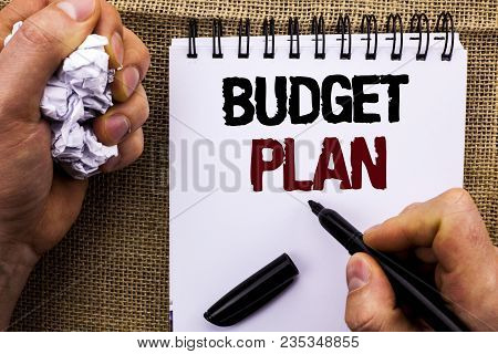 Word Writing Text Budget Plan. Business Concept For Accounting Strategy Budgeting Financial Revenue