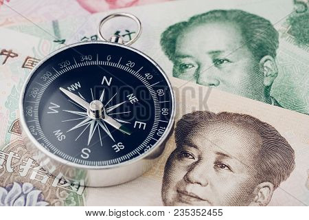 Direction Of China Financial And Economy Trade War, New Emerging Market High Growth Country Concept,