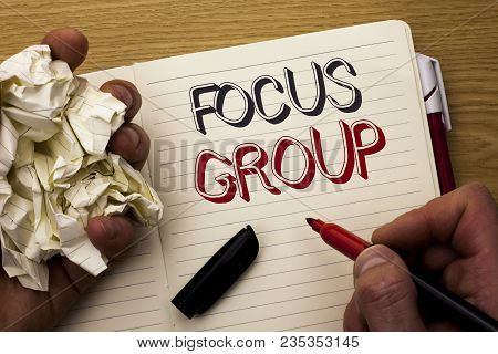 Handwriting Text Focus Group. Concept Meaning Interactive Concentrating Planning Conference Survey F