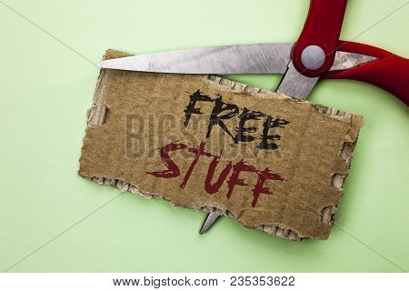 Text Sign Showing Free Stuff. Conceptual Photo Complementary Free Of Cost Chargeless Gratis Costless