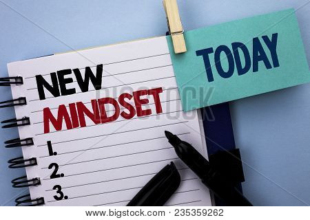 Conceptual Hand Writing Showing New Mindset. Business Photo Text Attitude Latest Concept Vision Beha