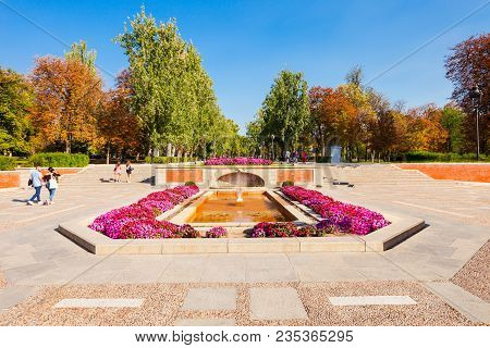 The Buen Retiro Park Is One Of The Largest Parks Of The City Of Madrid, Spain. Madrid Is The Capital