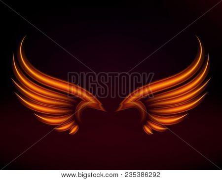 Flame Bird Fire Wings Fantasy Feather Burning Blaze Fly Blazing Danger Flare Glow Fiery Wings Burn H