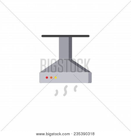 Kitchen Hood Flat Icon, Vector Sign, Colorful Pictogram Isolated On White. Exhaust, Extractor Hood S