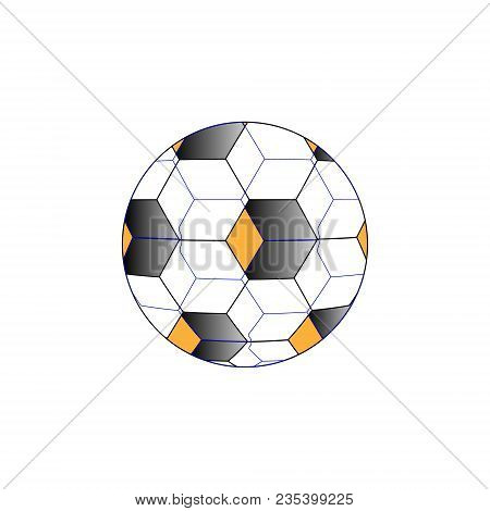 Abstraction Of A Soccer Ball, 3d Simulation. Vector Illustration.