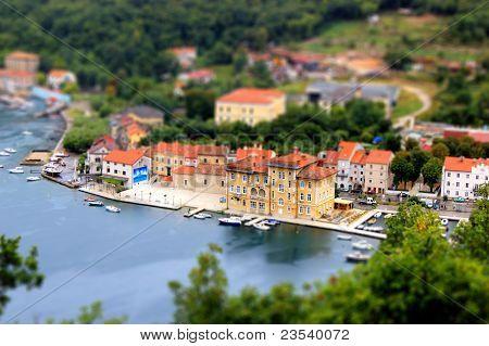 Town Of Bakar Miniature, Tilt Shif