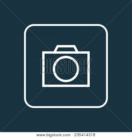 Photo Apparatus Icon Line Symbol. Premium Quality Isolated Photographing Element In Trendy Style.