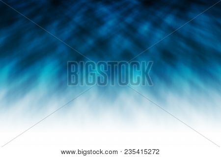 Blur Effect Of Blue Background Abstract Cloth, Smooth Silk, Liquid Waves Illustration Of Wavy Folds