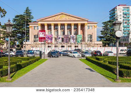 Batumi, Georgia - September 21, 2015: Ilya Chavchavadze State Drama Theatre In Batumi, Georgia. This