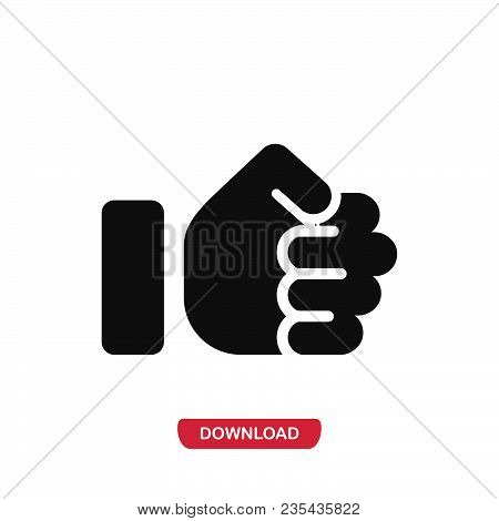 Fist Icon Vector In Modern Flat Style For Web, Graphic And Mobile Design. Fist Icon Vector Isolated