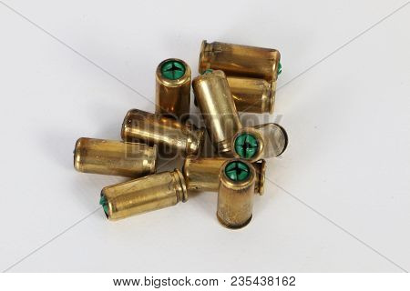 Heap Of Old Used Bullets In The Studio