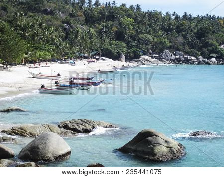 Haad Yuan, Koh Phangan  - April  20 2015 Remote Haad Yuan Beach On Koh Phangan Island In The Gulf Of