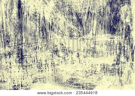 Scratched Painted Surface Texture. Shabby Grunge Background With High Details