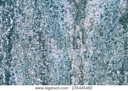 Abstract Grunge Background. Old Weathered Painted Blue Surface. Shabby Wall