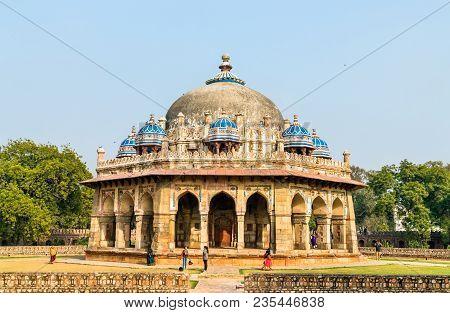 Isa Khan Tomb At The Humayun Tomb Complex In Delhi - India