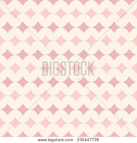 Vector Seamless Pattern For Girls. Baby Shower Background. Modern Texture In Soft Pastel Colors, Bei