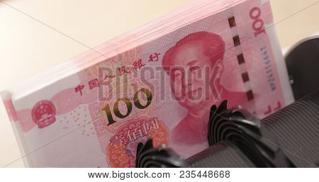 Counting number of banknote on machine with RMB