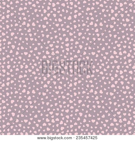 Vector Hearts Pattern. Valentines Day Background. Love Romantic Theme. Subtle Vector Abstract Seamle