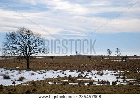 Early Springtime At The Fields By The Lighthouse At Ottenby On The Swedish Island Oland In The Balti
