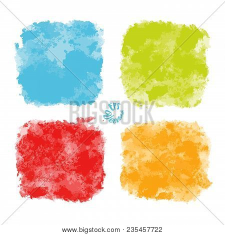 Old Painted Stone Wall Vector Colors. Beautiful Hand Drawn Backdrop. Usable For Website, Social Medi