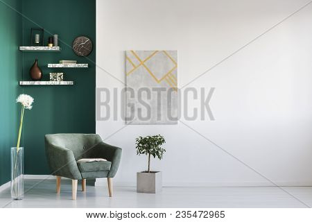 Dandelion In Living Room Interior