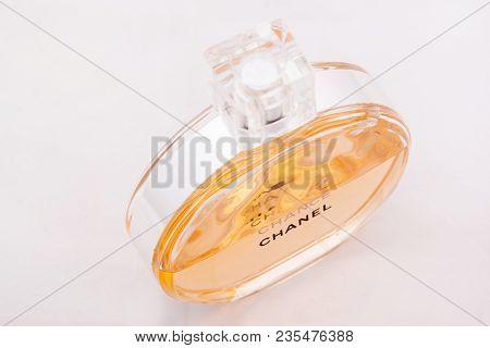 Russia, Izhevsk - June 13, 2017: Chanel Chance. Refinement Perfume Mademoiselle Coco Chanel. Perfume