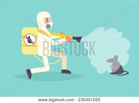 Pest Control Vector. Cartoon. Isolated Art Flat