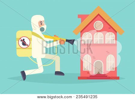 Disinsection Vector. Cartoon. Isolated Art Pest Control