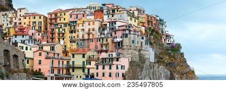 Beautiful Summer Manarola - One Of Five Famous Villages Of Cinque Terre National Park In Liguria, It
