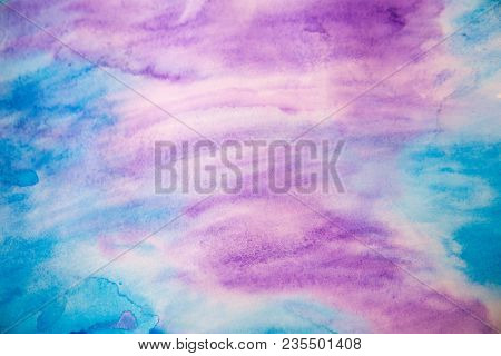Abstract Purple Background Of Colored Gouache Host