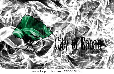 Eagan City Smoke Flag, Minnesota State, United States Of America