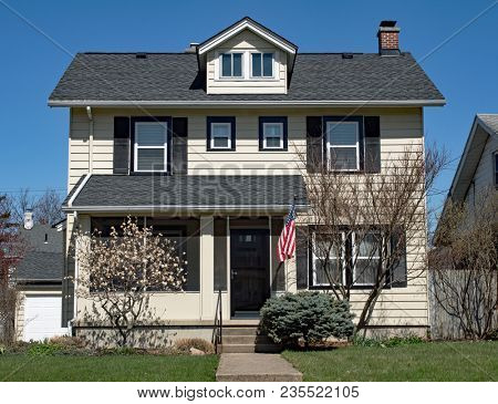 Basic Two Story House with One Dormer