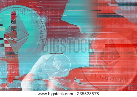 Ethereum Cryptocurrency Mining Conceptual Image For Blockchain Technology Decentralized Currency