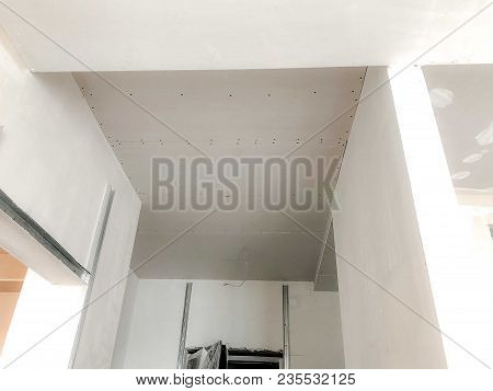 Facing Materials From Gypsum. Material For Repairs In An Apartment Is Under Construction Remodeling