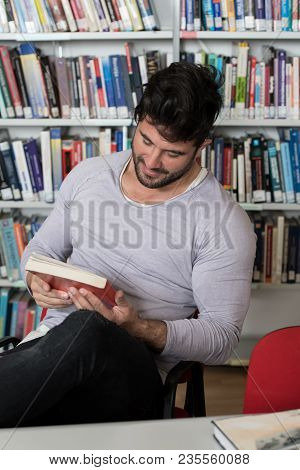 Male College Student Stressed About His Homework