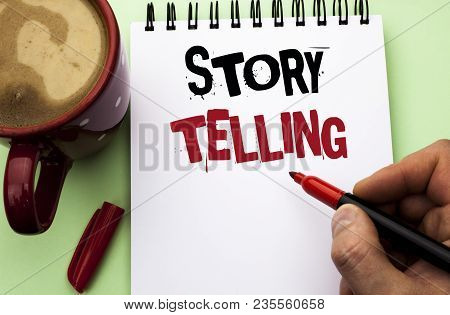Word Writing Text Story Telling. Business Concept For Tell Or Write Short Stories Share Personal Exp