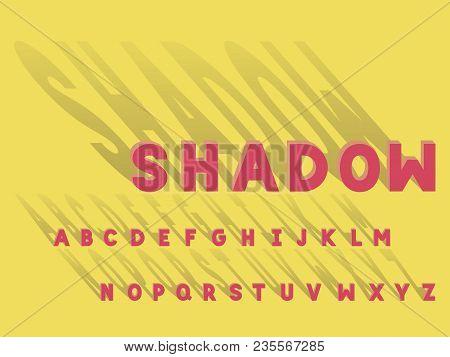 Shadow Bold Font. Vector Alphabet Letters. Typeface Design.