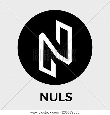 Nuls Black And White Vector Logo. Blockchain Open-source Project Which Is A Highly Customizable Modu