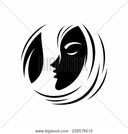 Best Creative Sketch Woman Face Icon Vector For Beauty Care, Yoga, Fashion And Cosmetic With Face An