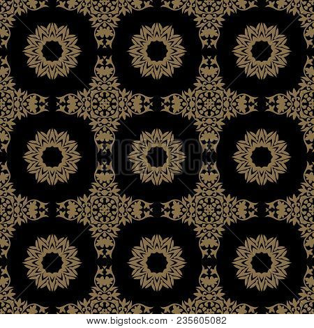 Seamless Floral Pattern. Oriental Ornament. Element For Design. Can Be Used For Wallpaper, Backgroun