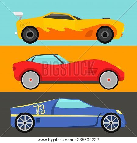 Sport Speed Automobile And Offroad Rally Car Colorful Fast Motor Racing Auto Driver Transport Motors
