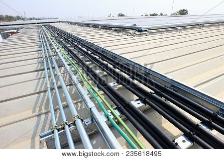 Cable Installation For Solar Rooftop System On Metal Sheet Roof
