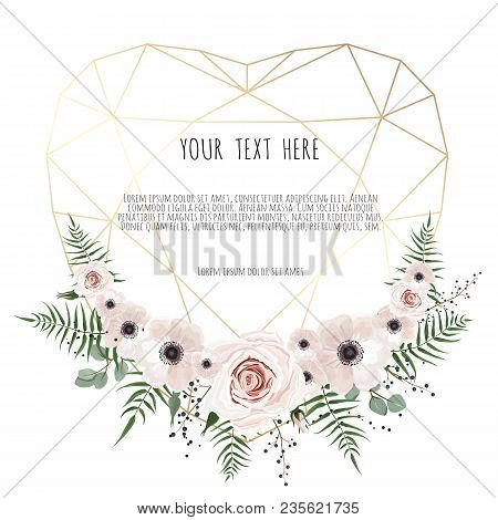 Valentines Card On Vector Photo Free Trial Bigstock