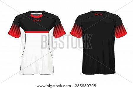 ac41cb83fc1 Soccer Jersey Template.red And Black Layout Sport T-shirt Design.