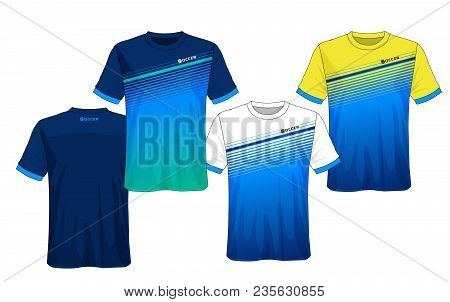 dd856f357 Soccer Jersey Template.blue And Black Layout Sport T-shirt Design.