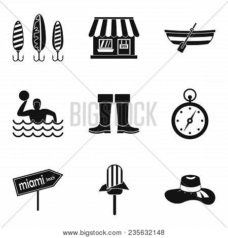 Wastewater treatment icons set. Simple set of 9 wastewater treatment vector icons for web isolated on white background poster