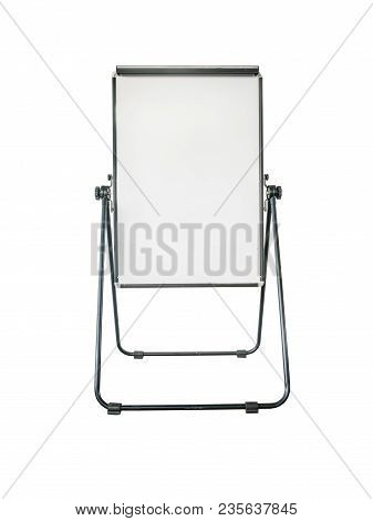 Whiteboard With Stand Easy To Move,isolated On White Background With Clipping Path.