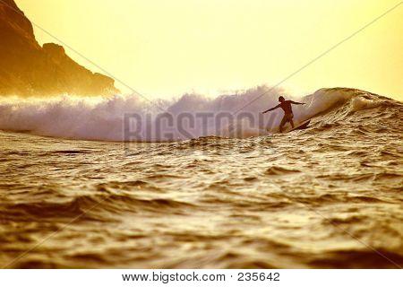 Sunrise Surfing.