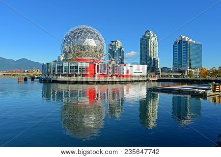 Vancouver - Nov 10, 2014: Vancouver Science World In Vancouver, Province Of British Columbia, Canada
